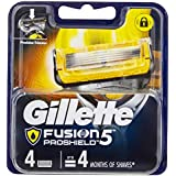 Gillette Fusion Proshield Men's Razor Blade Refills, 4 Pack, Mens Fusion Razors/Blades