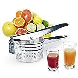 レモンしぼり 手動式 ステンレス製 ミニ じゃがいも絞り 調理済み食品、果物、野菜などに 健康 安全 使いやすい by LC Prime