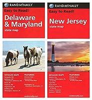 Rand McNallyメリーランドデラウェア州マップ: /と新しいJersey ( 2マップ)