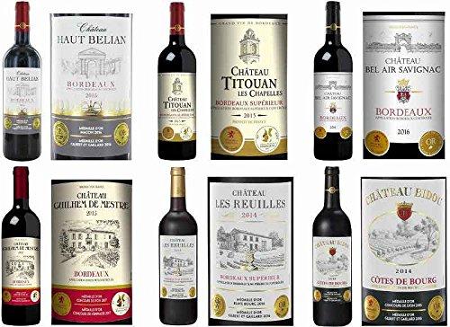 ALLダブル金賞受賞フランスボルドー産 ソムリエ厳選 赤ワイン6本セット(当り年も3本入)750ml×6本
