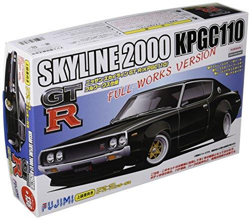 フジミ ID136 1/24 ニッサン スカイライン 2000 GT-R  KPGC110  フルワークス オーバーフェンダー付
