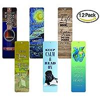 Creanoso InspirationalブックマークのBooks ( 12パック)–Bookmarker forメンズレディースTeensボーイズGirls kids-教育Readingブックマーク–モチベーション引用符–Stocking Stuffers