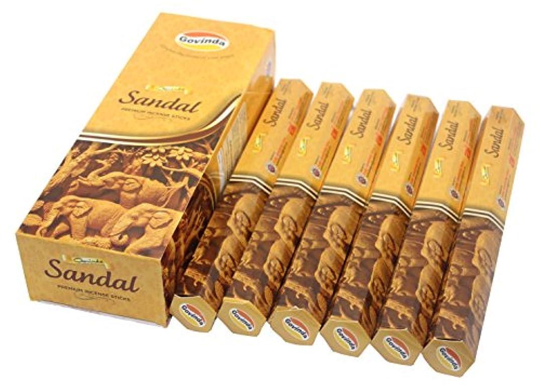 繊細リサイクルするドールGovinda Incense – Sandal – 120 Incense Sticks、MasalaコーティングIncense