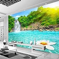 Lcymt カスタム3D壁画写真の壁紙滝川テレビの背景リビングルームの寝室の家の装飾-400X280Cm