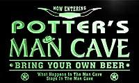 ネオンプレート サイン 電飾 看板 バー pb1376-g POTTER's Man Cave Cowboys Bar Neon Light Sign
