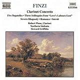 フィンジ:クラリネット協奏曲/5つのバガテル/3つのモノローグ/ロマンス