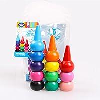 Qiyun子Toddlers 3d-fingerクレヨン12色クレヨンペイントSticksスタッカブルToys CY-New0308-A0BBBAB930