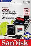 microSDXC 128GB SanDisk【3年保証】サンディスク UHS-1 超高速U1 FULL HD アプリ最適化 Rated A1対応 専用SDアダプ付 [並行輸入品]