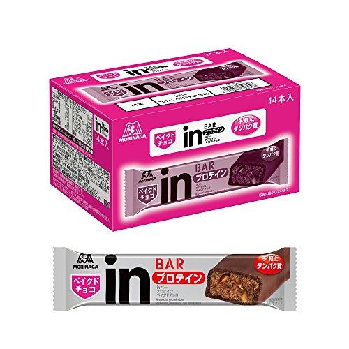 inバー プロテイン ベイクドチョコ (14本入×1箱) プロテインチョコバー 手で溶けないしっとり焼きチョコタイプ 高タンパク10g