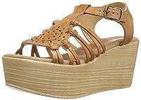 Sbicca Women's Jarrah Wedge Sandal Tan 9 B US [並行輸入品]