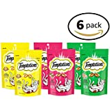 TEMPTATIONS Cat Treat Multi Variety Pack 85g Bag, 6 Count