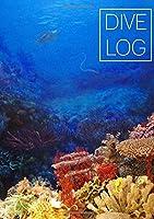 DIVE LOG: Tauchlogbuch A5 / englisch / 110 Seiten / Notizbuch / Pro Seite ein Tauchgang / Koralle