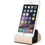 COOLOO iPhone 充電 卓上スタンド usb ケーブル付き 置くだけ充電 (ゴールド)