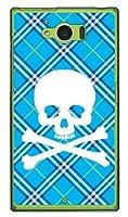 SECOND SKIN スカルパンク ブルー (クリア) / for AQUOS SERIE SHV32/au  ASHV32-PCCL-201-Y217