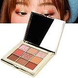 2色 アイシャドウ パレット パウダー 高級 真珠 キラキラ アイメイク 化粧品ツール(02)