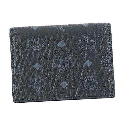 MCM エムシーエム 2 FOLD CARD WALLET カードケース ブラック MXC6AVI20 [並行輸入品]