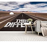 Chunxd 8D道路風景壁紙壁画バーカフェオフィスレストランの背景3D写真壁画壁紙壁の装飾-280X200Cm
