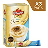 Moccona Coffee Skim Cappuccino - 10 Individuals Sachets (140g x 3 Packs)