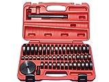 油圧プレス用アダプターセット オイルシール ブッシュ ベアリングの圧入工具 油圧プレス アタッチメント 18mm-74mm(49サイズ) 【60日安心保証付】