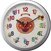 それいけアンパンマン 掛け時計 キャラクター アナログ アンパンマン M713 銀色 リズム時計 4KG713-M19