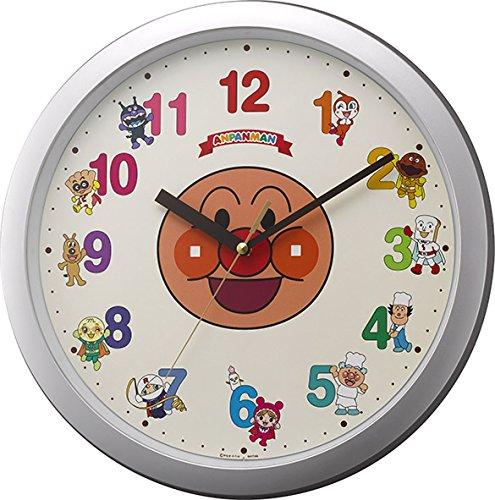 リズム時計 それいけ アンパンマン キャラクター 掛け時計 アンパンマンM713 シルバー 4KG713-M19