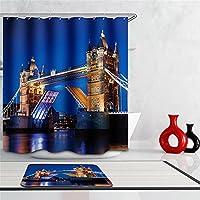 London Bridge 3, 150cm wide200cm high : Scenery 3d Waterproof Shower Curtain London Bridge Fabric Bathroom curtain Marilyn Monroe Modern eagle Bath Curtain with Hooks