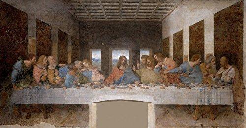 絵画風 壁紙ポスター (はがせるシール式) 最後の晩餐 イエス・キリスト レオナルド・ダ・ヴィンチ キャラクロ SGB-001S1 (1105mm×576mm) 建築用壁紙+耐候性塗料