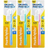 Pearlie White BrushCare Enamel Protect Soft Toothbrush, Pack of 3