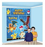 Pokemon Giant誕生日シーンセッター壁バナーPikachuパーティーSupply