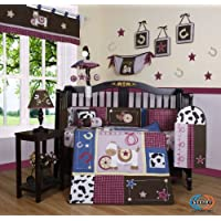 Boutique Horse Western Cowgirl 13PCS CRIB BEDDING SET by GEENNY