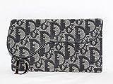 [クリスチャン・ディオール] Dior 三つ折長財布 長財布 ネイビー [中古]