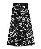 [ファーファー] 花鳥風月スカート レディース RWFS191114 BLK 日本 F (FREE サイズ)