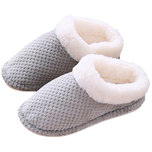 L-RUNJP スリッパ 室内履き 秋冬用 もこもこ 暖かい 男女兼用 ふわふわ 防寒 ルームシューズ 滑り止め 洗える 静音スリッパ 軽量 室内