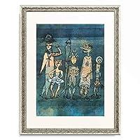 パウル・クレー Paul Klee 「Masks. 1923.」 額装アート作品