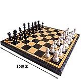 マグネットチェス POTOJP 磁性 国際チェス 国際将棋 折り畳み式 携帯便利 教育チェスセット 盤面サイズ20×20.8×2.5cm 黑白駒