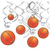 Funpa スワールデコ デコレーション サッカー型 テーマパーティー アクセサリー 掛け飾り 12点セット ワールドカップ 応援会 直径15.5cm PVCプラスチック製 オレンジ