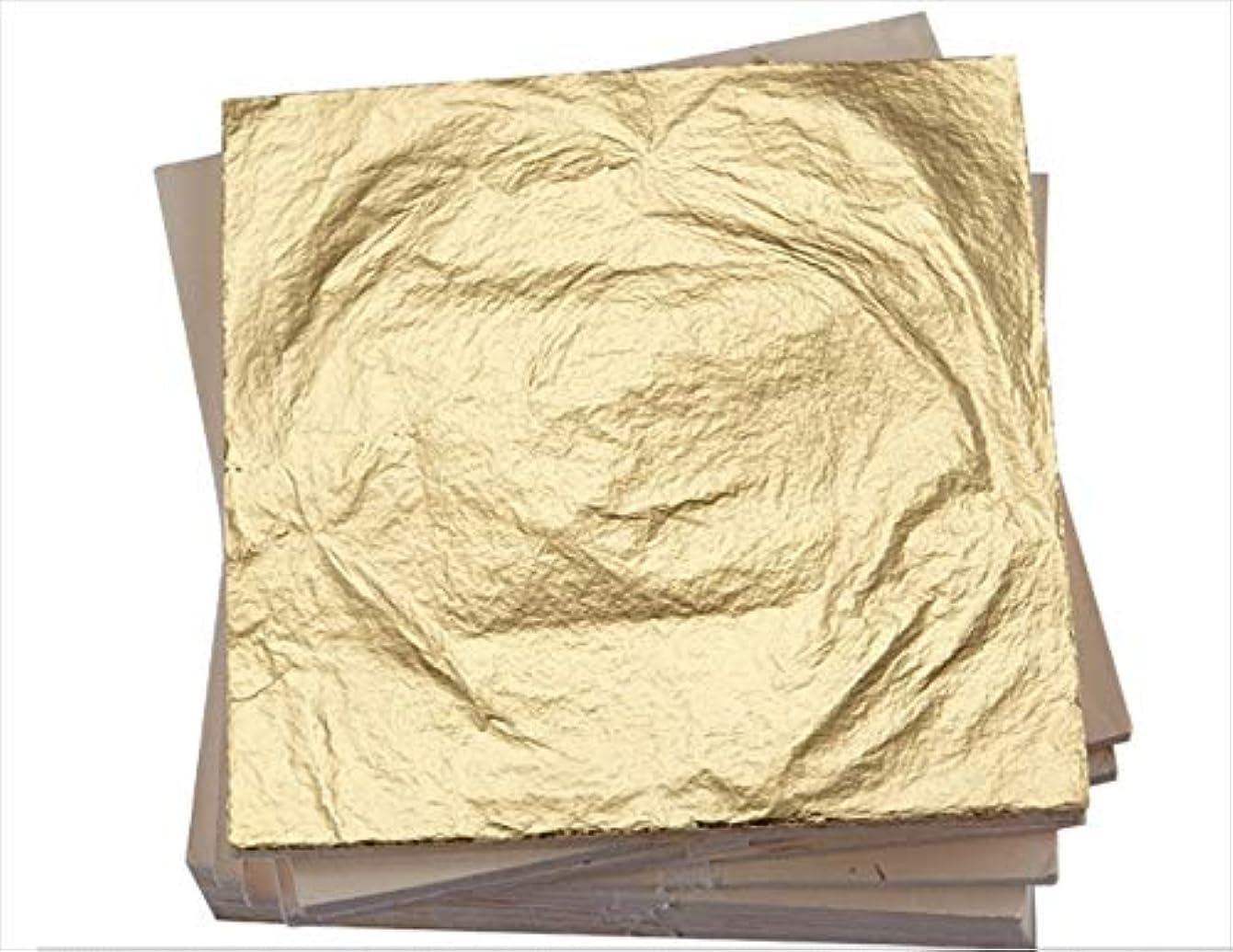 中世のルビーそんなに箔シート 金箔 フェイク ゴールド ゴールドリーフ 日本画用 工作用 ネイルチップ 14×14cm 100枚 (ゴールド)