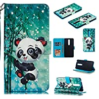 Abtory Nokia 3.1 Plus Wallet Case, [Cartoon Printed] Wallet Case [ID Credit Card and Cash Slots] with Stand Flip Cover Phone Case for Nokia 3.1 Plus Panada