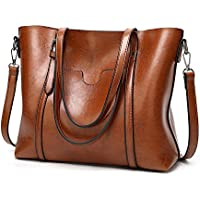 "UTO Women Tote Bag Top Handle Large Capacity 13.3"" Laptop Shoulder Purse"