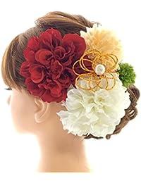 【選べるカラーバリエーション9タイプ】髪飾り5点セット 成人式 結婚式 卒業式 和装 着物 浴衣