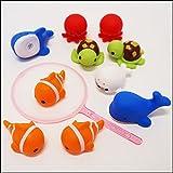 水に浮くすくい用おもちゃ ぷかぷか人気の海の生き物(50個) / 水のおもちゃ すくい用品 縁日  4606