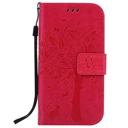 Galaxy S4 ケース CUSKING 手帳型ケース 高品質 PUレザー カードポケット全面保護 フリップ カバー 落下防止 衝撃吸収 財布型 ギャラクシ S4 対応 - ホトピンク