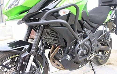 ブラッククラッシュバーエンジンガードフレームプロテクターfor 2015–2016Kawasaki Versys 650