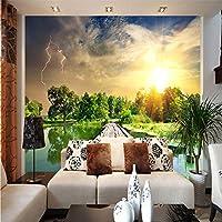 Ansyny カスタム任意のサイズの壁画写真壁紙ロール3D自然風景リビングルーム寝室テレビソファ背景壁紙壁画-260X160CM