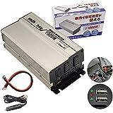 インバータ 24V 定格 1000W 最大 1600W 電源インバーター USB電源 DC24V AC100V 自動車 船 電源 対応