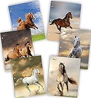 新しい世代–Horse–2ポケットフォルダHeavyDuty 3穴パンチ–6フォルダ1パックAssorted 6ファッションデザインUV光沢ラミネート