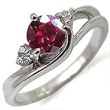 プレジュール プラチナ リング ルビー 大粒 ルビーリング 指輪 リングサイズ16号