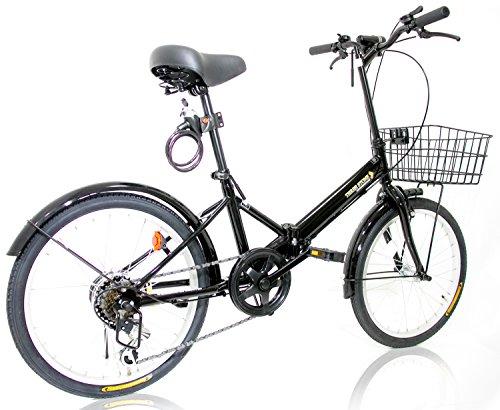 THREE STONE 折りたたみ自転車 20インチ シマノ社製6段変速ギア...