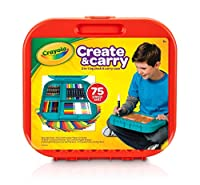 Crayola Create 'n Carry Case, Portable Art Tools Kit, Over 75 Pieces, Great Gift