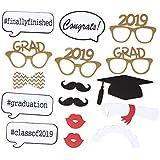BESTOYARD 2019年卒業フォトブースの小道具のクラス2019年卒業パーティーの装飾卒業式17個